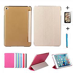 Smart Cover läderfodral + PC genomskinligt tillbaka fallet för Apple iPad luft 2 + fri gåva skyddsfilm + pekpennan