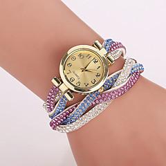 Dames Modieus horloge Armbandhorloge Kwarts Vrijetijdshorloge imitatie Diamond PU Band Bloem Luipaard  BohémienBlauw Bruin Groen Roze