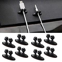 ziqiao 8pcs multifunktionella lim billaddare linje lås klämma hörlurar / USB-kabel bil klipp inredning tillbehör