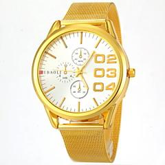 mænds mode dial guld stålbånd quartz armbåndsur