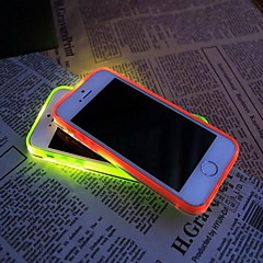 nuevo TPU flash LED recordatorio transparente caso de la contraportada para el iphone 5 / 5s (color clasificado)