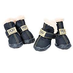 Perros Zapatos y Botas Moda / A Prueba de Agua Invierno Un Color Negro / Verde / Azul / Marrón / Rosado Cuero PU