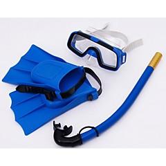 i bambini lo snorkeling occhiali occhiali sambo nuoto occhiali respirazione pinne tuta tubo (colori casuali)