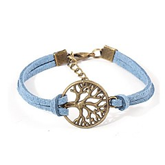 European Style Elegant Weave Lifetree Charm Chain Bracelet (Random Color) Christmas Gifts