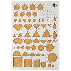 mall för make quilling papper diy konsthantverk dekoration 22x15.5cm