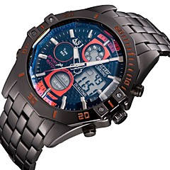 Multiple Digtal Display Date Day Alam Waterproof LCD Chronograph Mens Sport Wrist Quartz Watch Military Army Style Wrist Watch Cool Watch Unique Watch