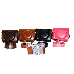 Dengpin® PU Leather Camera Case Bag Cover with Shoulder Strap for Canon PowerShot G9 X (Assorted Colors)