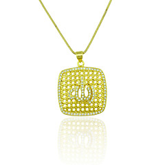 Necklace Pendant Necklaces Jewelry Wedding / Party / Daily / Casual / Sports Zircon / Copper Gold 1pc Gift