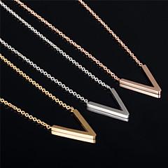 V Ms 18K Gold Titanium Steel Necklaces