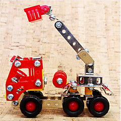 Jigsaw Puzzles 3D Puzzles / Metal Puzzles Building Blocks DIY Toys Truck 169pcs Metal Red Model & Building Toy