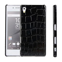 Back Cover Embossed Solid Color PU Leather Hard Case Cover For Sony Sony Xperia Z5