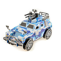 Jigsaw Puzzles 3D Puzzles Building Blocks DIY Toys War Chariot Paper Blue Model & Building Toy