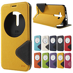 ROAR KOREA Diary Quick Circle View Window Leather Cover Case For Asus Zenfone 2 Laser ZE550KL ZE551KL 5.5 inch