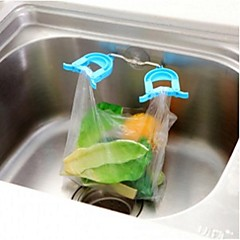 Kitchen Sponge Cloth Clip With Suction Cup Double Sink Garbage Bag Rack Shelf