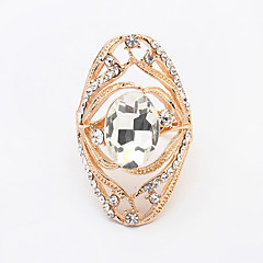 Women's European Personality Fashion Shiny Rhinestone Ring