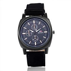 Masculino Relógio de Pulso Quartz Couro Banda Preta / Laranja marca