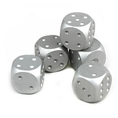 gyönyörű alumínium kocka ezüst 5 db