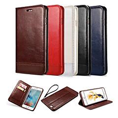 Kompatibilitás iPhone X iPhone 8 iPhone 6 iPhone 6 Plus tokok Pénztárca Kártyatartó Állvánnyal Flip Mágneses Teljes védelem Case Tömör