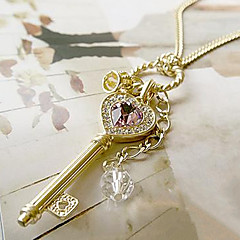 Női Nyaklánc medálok Heart Shape Crown Shape Drágakő Ötvözet Szerelem jelmez ékszerek Ékszerek Kompatibilitás