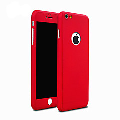 ultradunne pc full body case met gehard glas film case voor de iPhone 7 7 plus 6s 6 plus se 5s 5
