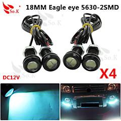 4 x 9W hielo llevó luz del ojo de águila de niebla del coche DRL revertir el estacionamiento de reserva 12v señal