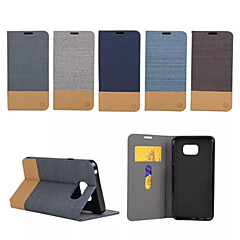For Samsung Galaxy Note Card Holder / with Stand / Flip Case Full Body Case Lines / Waves PU Leather Samsung Note 5 / Note Edge