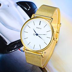 Reloj de la moda de los hombres de la nueva correa de reloj de cuarzo, oro, plata