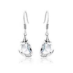 Luxury Austria Crystal Drop Earrings for Women Clean Waterdrop Earrings Fashion Jewelry Accessories Silver Plated