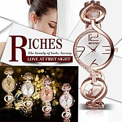 Femme Montre Tendance Bracelet de Montre Quartz Etanche Alliage Bande rétro Etincelant Elégantes Luxe Doré Or Rose # 1 # 2 # 3 # 4