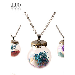 HUALUO®2016 new listing bottle plant flower necklace sweater chain necklace
