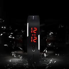 男性 女性用 ユニセックス スポーツウォッチ LED タッチスクリーン デジタル シリコーン バンド 多色