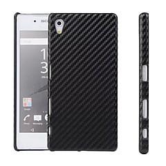 PC+PU Men's Style carbon fiber Pattern Phone Case For Sony Z5