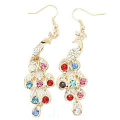 Earring Drop Earrings Jewelry Women Alloy / Rhinestone / Platinum Plated 1set Gold / Silver