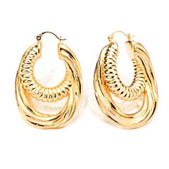 18k Gold Plated Double Hoop Fashion Trendy Hoop Earrings Vintage Jewelry for Women Gift Wholesale E10132