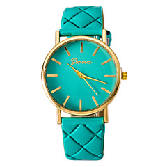 Women's Fashion Watch Face Lozenge Pu Belt Quartz Watch Cool Watches Unique Watches
