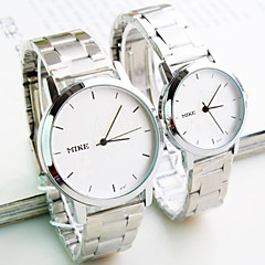 Couple of sheet steel with han edition contracted fashion female table Men's watch watch fashion students