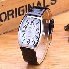 Men's Fashion Watch Fashion Korean Version Of The Trend Is Still Retro PU Band Quartz Watch Cool Watch Unique Watch