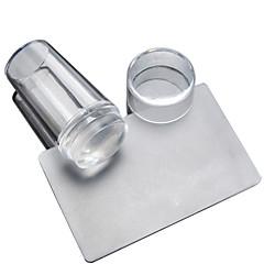 투명 투명 실리콘 밀봉 핸들 인쇄 헤드 헤드 스크레이퍼의 2 조각 매니큐어 투명 커버 씰