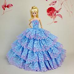 Barbie Doll Sky Blue Party & Evening Organza / Lace Dresses Dresses