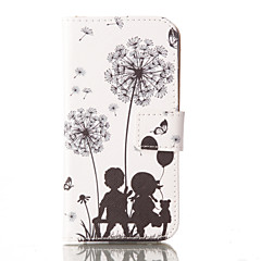 Dandelion PU Leather Wallet with Card Holder and Stand for Iphone 5 5s 5se 6 6S 6 Plus 6S Plus