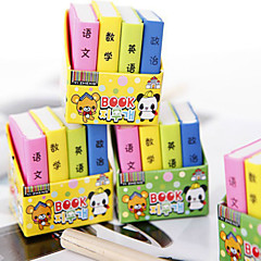 8PCS Cute Cartoon Textbooks Rubber Color Books(Style random)