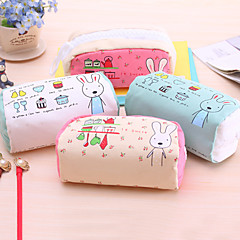 Greedy Rabbit High-Capacity Contracted Pen Bag Lovely Cloth Art Pencil Case