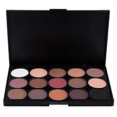 15 Paleta de Sombras Secos / Mate / Brilho Paleta da sombra Pó NormalMaquiagem para o Dia A Dia / Maquiagem de Fada / Maquiagem Olho de