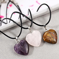 European Heart Natural Stone Necklace Pendant Necklaces Daily / Casual 1pc