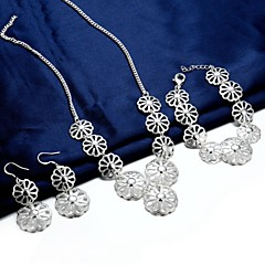 Silver Plated Jewelry Set 3 pcs Party / Casual 3pcs