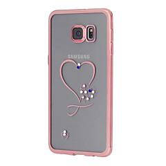 Varten Samsung Galaxy S7 Edge Paljetti / Pinnoitus / Läpinäkyvä / Kuvio Etui Takakuori Etui Sydän TPU SamsungS7 edge / S7 / S6 edge plus