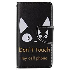 Varten Sony  kotelo / Xperia Z5 Lomapkko / Korttikotelo / Tuella / Flip Etui Kokonaan peittävä Etui Sana / lause Kova Tekonahka varten