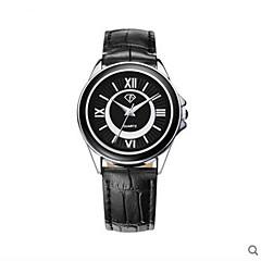 Hommes Bracelet Montre Quartz Etanche Cuir Bande Noir Marque-