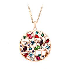Dames Voor Stel Hangertjes ketting Kristal Kristal Kubieke Zirkonia Legering Modieus Aanbiddelijk Luxe Sieraden SieradenBruiloft Feest