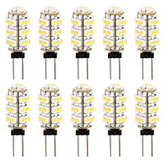 10 en 1 3528 G4 26 SMD calientan la lámpara del bulbo del coche luz blanca 3000-3500k (dc12v)
